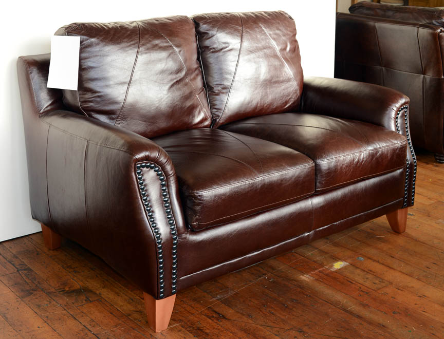 2 Seater Brown Leather