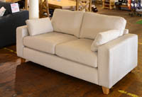 2 seater beige fabric sofa by john lewis