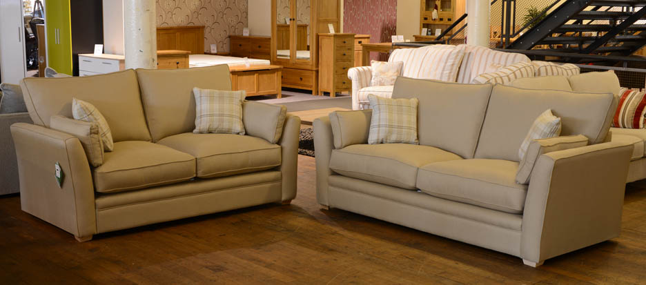 Coniston Beige Fabric Suite 2 Seater And 3 Seater Sofa. Cavendish Coniston  Beige Fabric Suite 2 Seater And 3 Seater Sofas