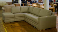 abbey Beige fabric corner sofa sale